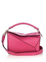 Loewe Puzzle Small Leather Cross Body Bag Pink