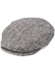 Dolce And Gabbana Herringbone Pattern Hat Black