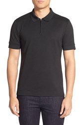 Men's Vince Camuto Mesh Polo Black