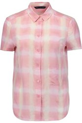 Marc By Marc Jacobs Printed Cotton And Silk Blend Shirt Baby Pink