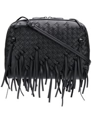 Bottega Veneta Fringed Nodini Bag Black