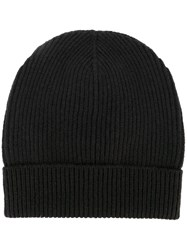 Maison Martin Margiela Ribbed Beanie Hat Grey