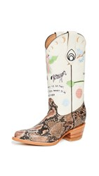 Brother Vellies Doodle Boots Cream