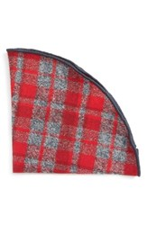Alexander Olch Men's Plaid Flannel Pocket Round