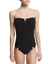 Shan Serena Solid V'd One Piece Swimsuit