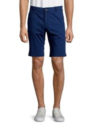 Selected Straight Fit Cuffed Shorts Blue Depth