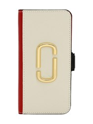 Marc Jacobs Grained Leather Iphone Xs Case Coconut