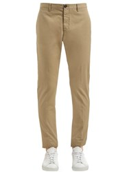 Dsquared 16Cm Tidy Cotton Twill Pants Beige