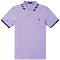 Fred Perry 'S Slim Fit Twin Tipped Polo Purple
