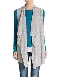 Vince Wool And Cashmere Draped Vest Heather Stripe
