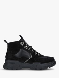 Carvela Loopy High Top Trainers Black Suede
