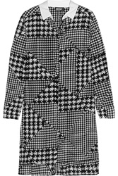 Dkny Houndstooth Silk Blend Shirt Dress