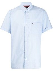Tommy Hilfiger Short Sleeved Shirt Blue