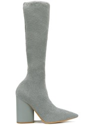 Yeezy Knee High Boots Grey
