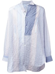 Loewe Deconstructed Striped Shirt Blue