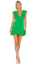 Privacy Please Monarch Mini Dress In Green.