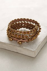 Anthropologie Bronzed Wrap Bracelet Gold