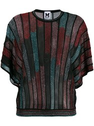 M Missoni Knitted Batwing Sleeves Top Black