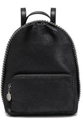 Stella Mccartney Woman Falabella Mini Faux Brushed Leather Backpack Black
