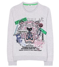 Kenzo Embroidered Cotton Sweater Green