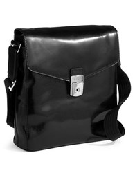 Bosca Leather Carrier Bag Black
