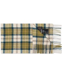 Barbour Tartan Lambswool Scarf Green
