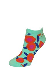 Kate Spade Floral Patterned Ankle Socks Garden Mint