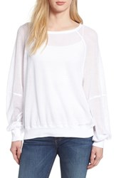 Michael Stars Open Stitch Sweatshirt White
