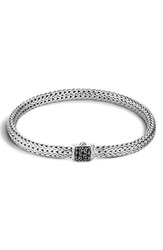 John Hardy Women's 'Classic Chain' Extra Small Bracelet Silver Black Sapphire