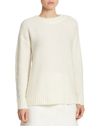 424 Fifth Oversized Boucle Crewneck Sweater Ivory