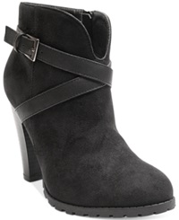 Two Lips Too Lizzy Booties Women's Shoes Black