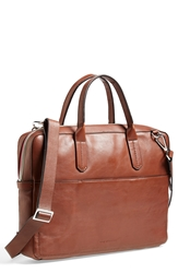 Ben Minkoff 'Fulton' Leather Briefcase Cognac