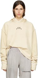 A Cold Wall Reversible Beige Oversized Logo Hoodie