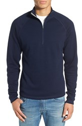 Ibex Men's 'Shak' Merino Wool Quarter Zip Top Midnight