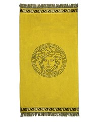 Versace Two Tone French Terry Beach Towel Yellow Black