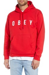 Obey Anyway Hooded Sweatshirt Hot Red