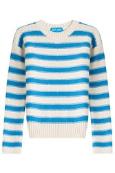 M I H Jeans Amorgos Striped Cotton Blend Pullover Stripes