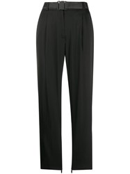 J. Lindeberg J.Lindeberg Straight Leg Buckle Trousers Black