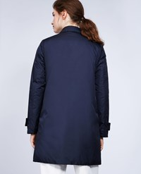 Aspesi Nylon And Thermore Coat Albanella Navy Blue