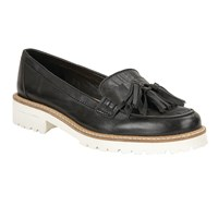 Ravel Midway Cleated Sole Slip On Loafers Black Leather