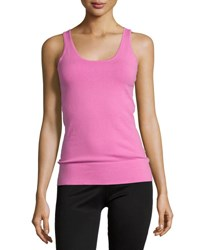 Minnie Rose Essential Layering Scoop Neck Tank Fushia