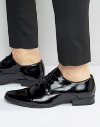 New Look Derby Shoes In Patent Black Black