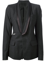 Diesel Black Gold Satin Lapel Blazer Grey
