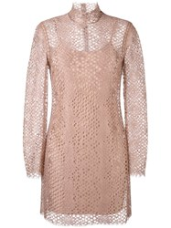 Alexander Wang Lace Mini Dress Nude And Neutrals
