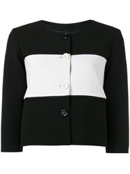 Boutique Moschino Striped Jacket Black