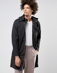 Selected Homme Premium Parka With Removable Bomber Jacket Black