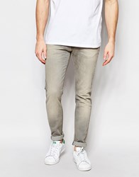 United Colors Of Benetton Washed Grey Jeans In Slim Fit Grey