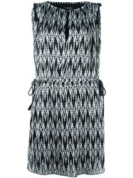 Isabel Marant Digital Chevron Print Dress Black