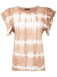 Roberto Collina Tie Dye Gradient Effect Top Nude Neutrals