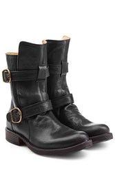 Fiorentini Baker And Leather Biker Boots Black